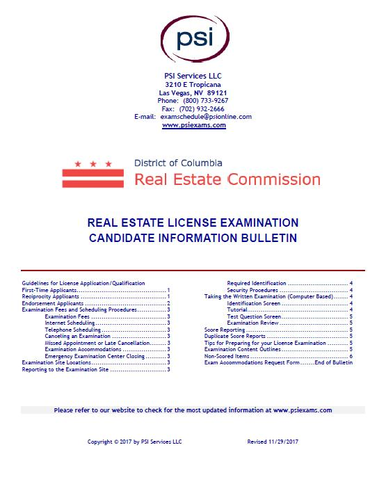 60 Hour Dc Real Estate License Course