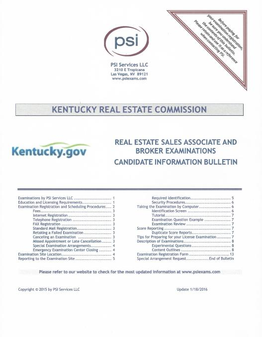 96 hour kentucky real estate principles and practice course